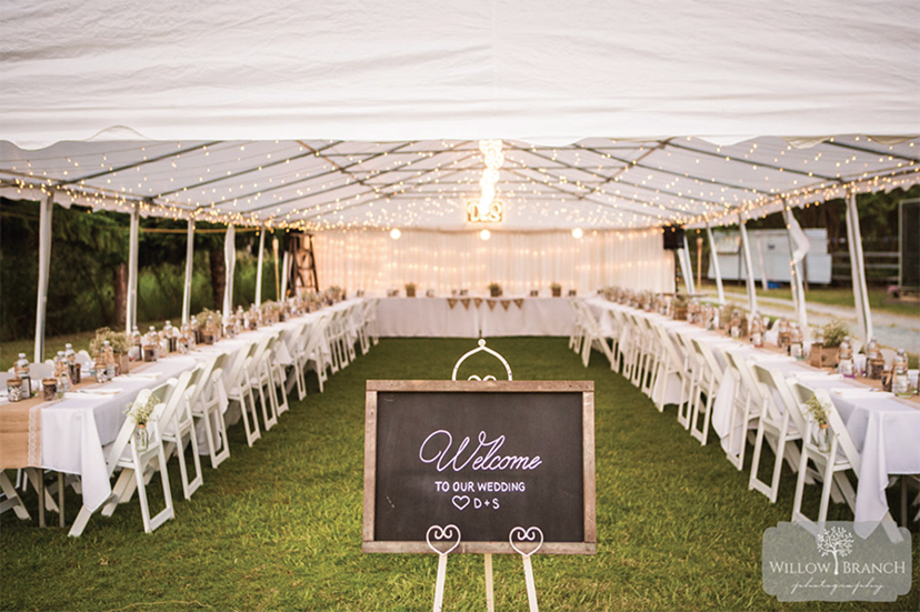 Marquee Wedding Samford Lakes